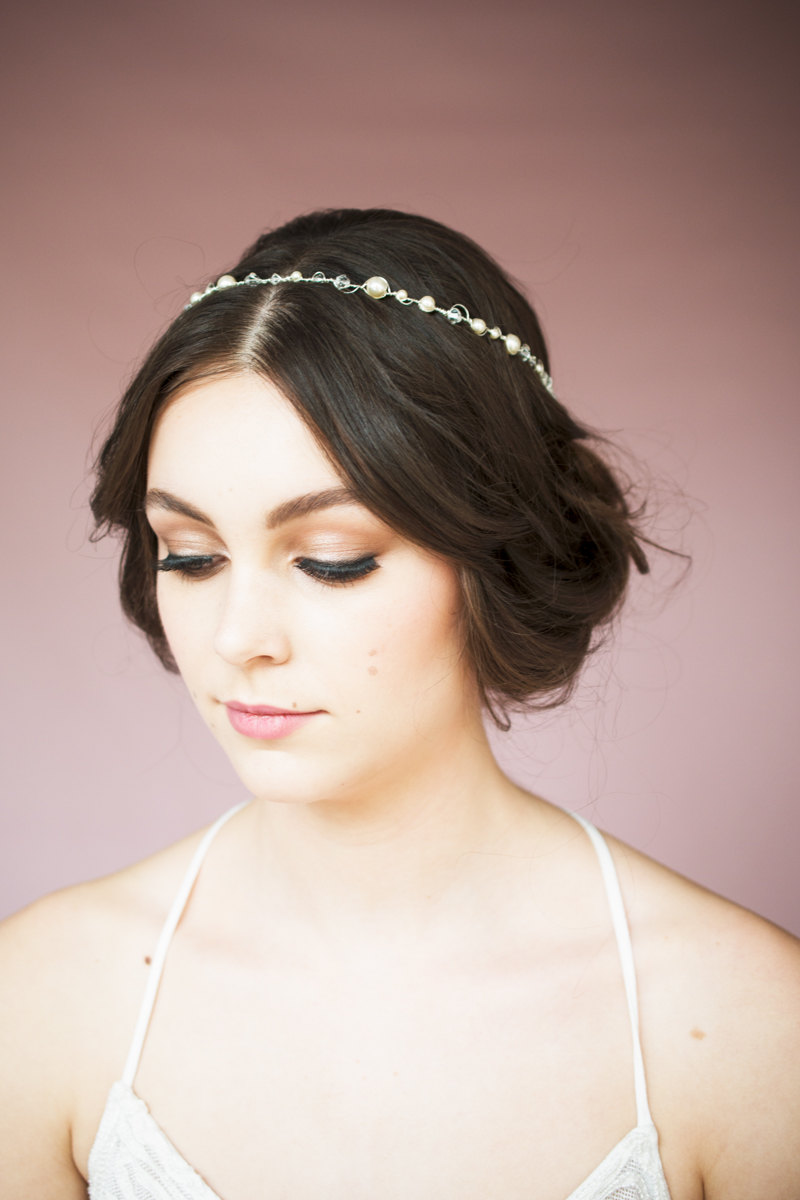 Crystal and Pearl Bridal Headband