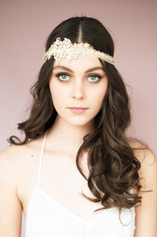 lace headband | Bridal Headband With Veil via http://emmalinebride.com/bride/bridal-headband-with-veil/