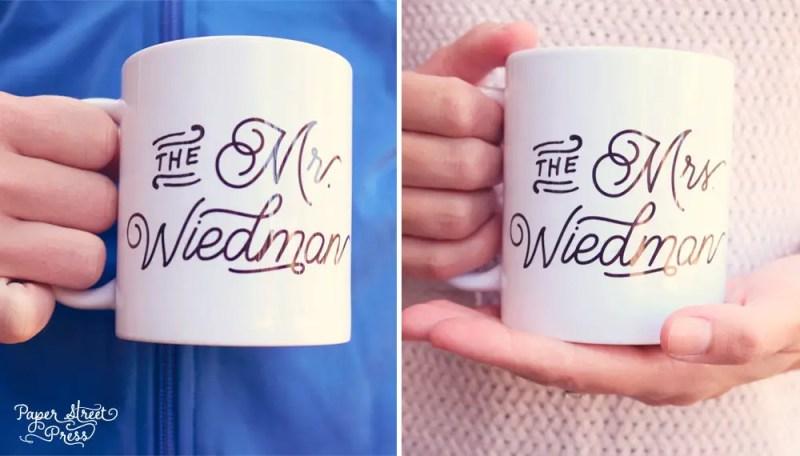 custom coffee mugs for mr and mrs