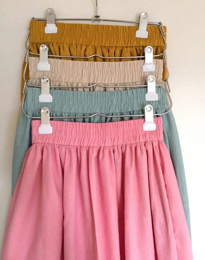 custom knee length skirts