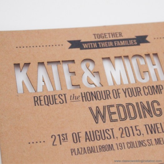 cut out wedding invitations