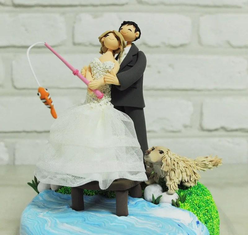 Fishing Cake Topper for Wedding / Groom's Cake