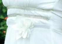 dahlia and tulle wedding dress sash
