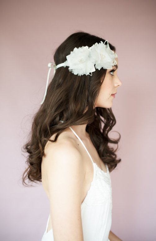 floral headband | Bridal Headband With Veil via http://emmalinebride.com/bride/bridal-headband-with-veil/
