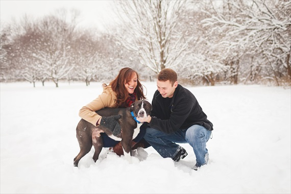Rachael Schirano Photography - snowy engagement session