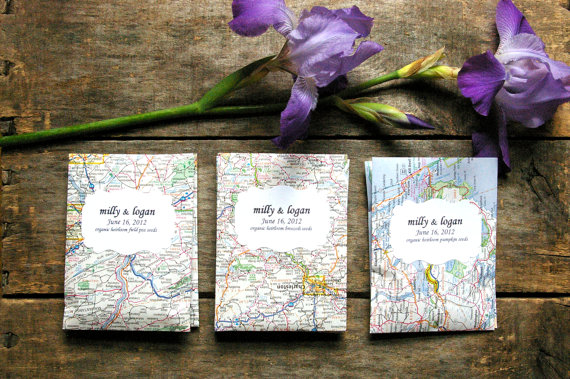 Eco Wedding Ideas - wedding seed packet favors by the little ragamuffin