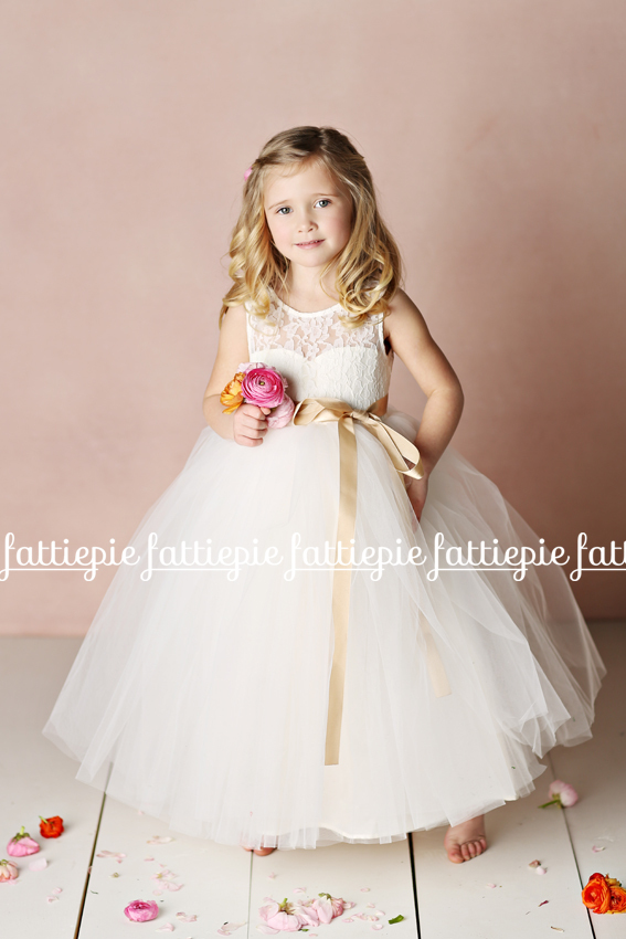 elizabeth flower girl dress tulle (by Fattie Pie) - formal flower girl dresses #wedding