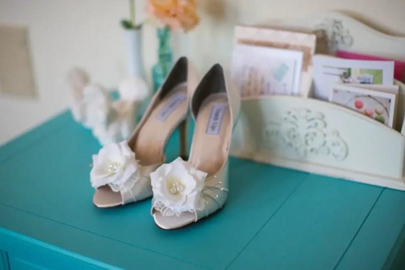 embellished wedding heels by Becca & Louise