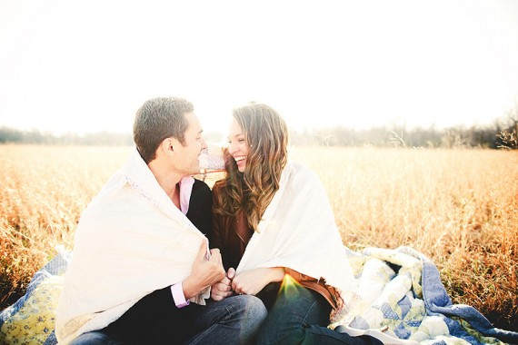 20 Best Engagement Photo Ideas: The Blanket (by Justin Battenfield)