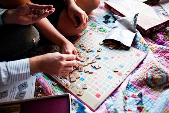 engagement photo ideas - the scrabble board