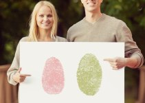 wall art - thumbprint wedding ideas | http://emmalinebride.com/gifts/thumbprint-wedding/