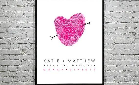 fingerprint heart art