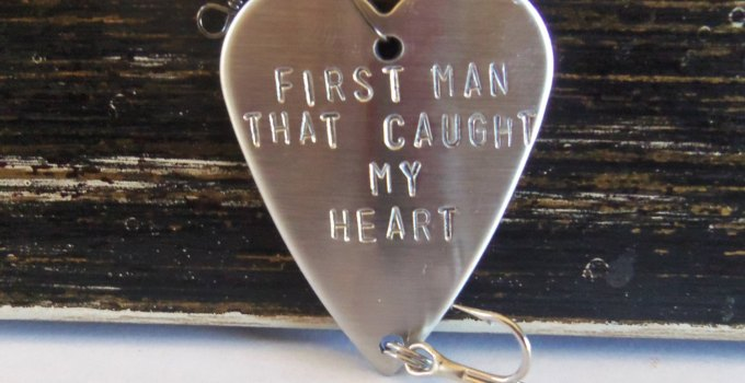 first man that caught my heart fishing lure gift idea