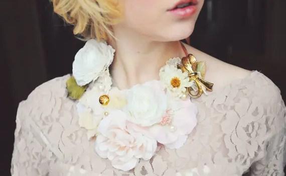 floral bib necklace