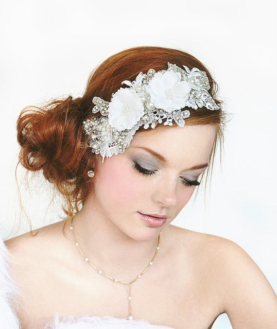 flower bridal headband