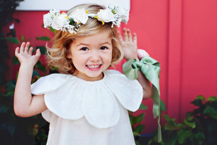 petal flower girl dress | via http://emmalinebride.com/spring/petal-flower-girl-dress