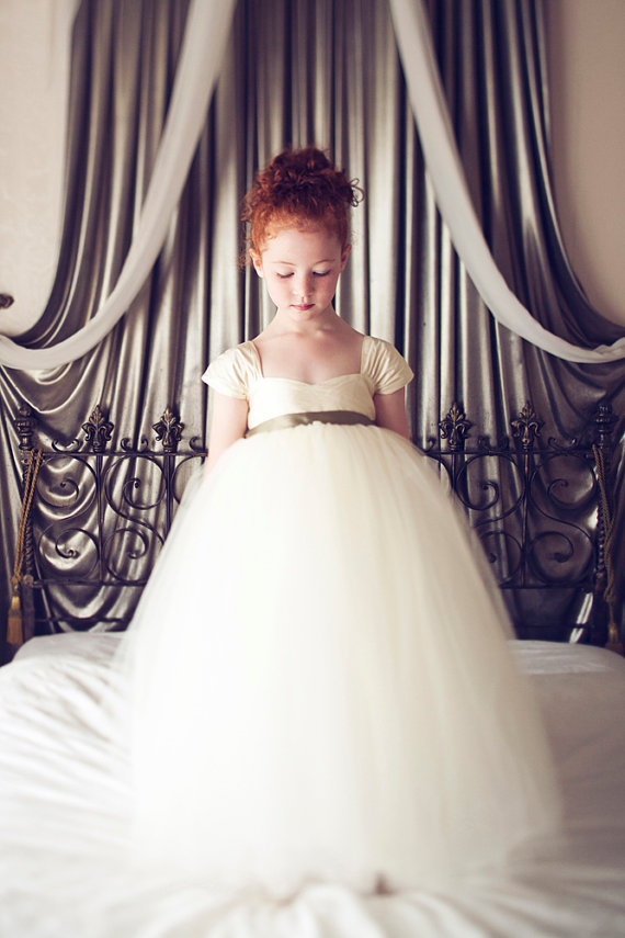 Flower Girl Dress (by Olivia Kate Couture, photo by Michelle DuPont) - What Does a Flower Girl Do? via EmmalineBride.com
