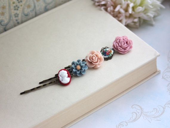 Best Bridesmaid Gifts from A-Z (via EmmalineBride.com) - floral hair pins by marolsha