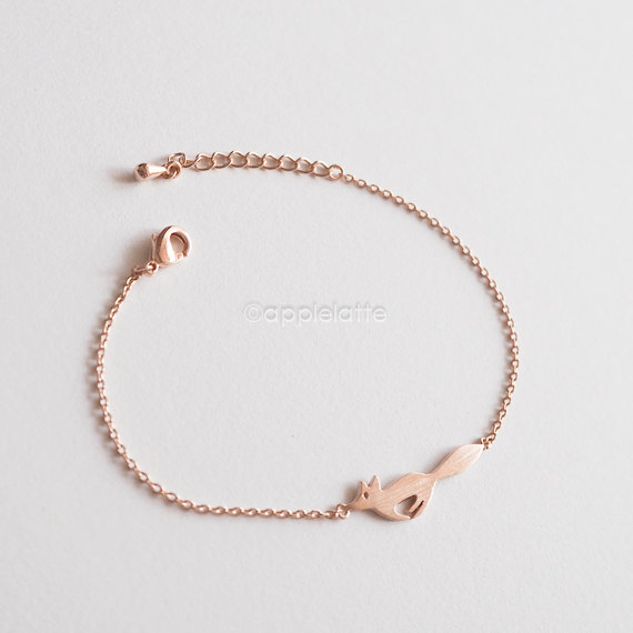 fox bracelet by apple latte | Fox Ideas Weddings via http://emmalinebride.com/rustic/fox-ideas-weddings/