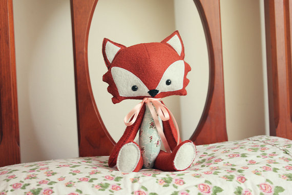 fox plush for flower girl gift by thistleandfox