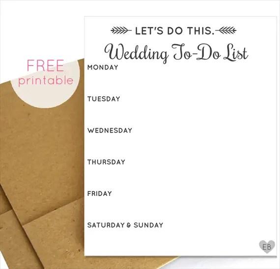 Wedding To Do List: The Ultimate Printable Wedding Planning Checklist