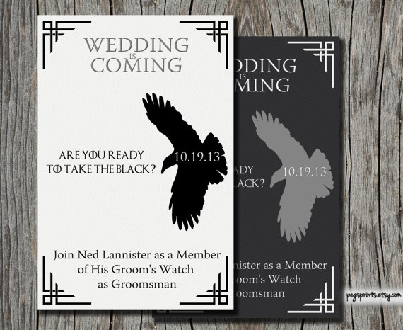 game of thrones be my groomsmen card