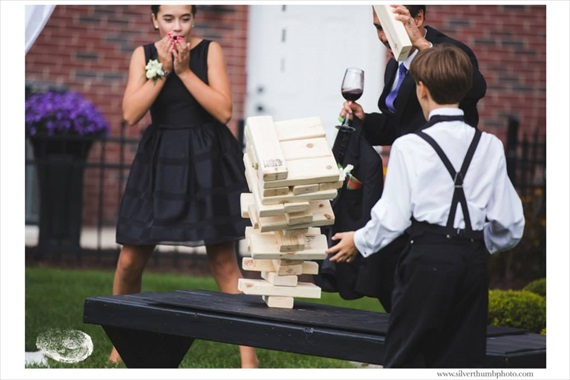 Big wedding Jenga game, terrific reception fun