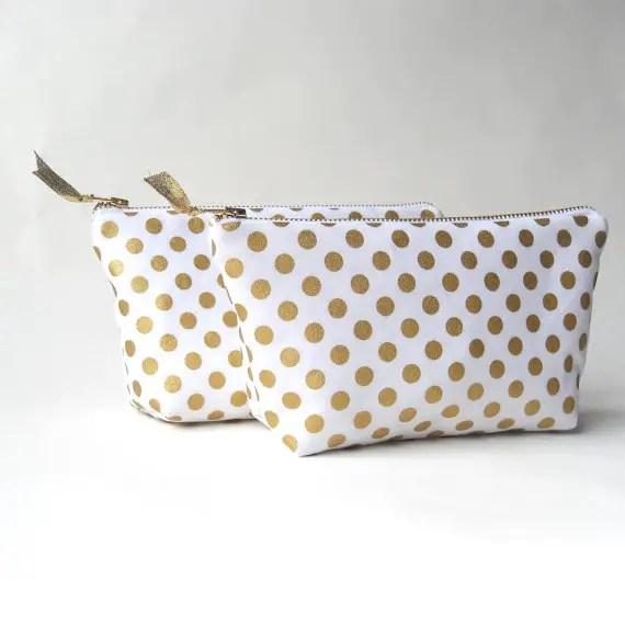 gold polka dot clutch purse   via polka dot wedding ideas http://emmalinebride.com/themes/polka-dot-wedding-ideas-handmade/
