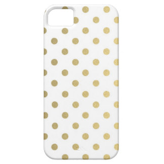 gold polka dot phone case