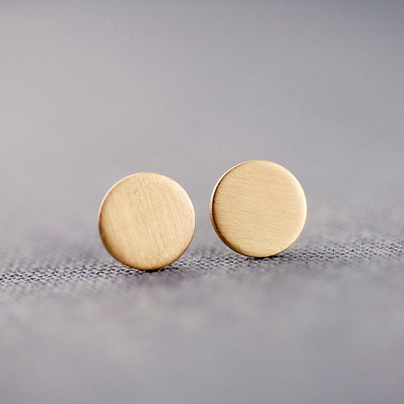 handcrafted jewelry (by lily emme jewelry) - gold stud earrings