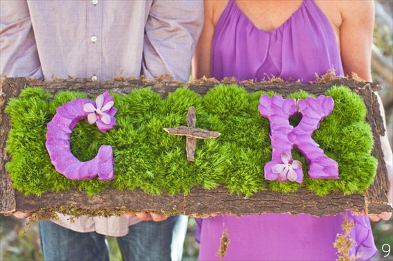Purple Orchid Wedding Theme with Green