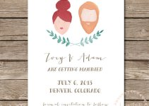hand-painted portrait wedding invitations