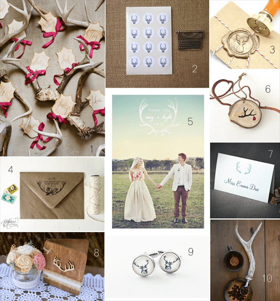 31 Most Unique Antler Wedding Ideas via EmmalineBride.com