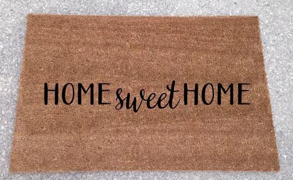 home sweet home doormat etsy