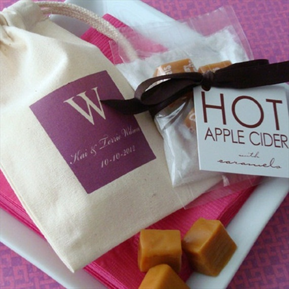 Ideas For Bridal Shower Gift Bags : ... Bridal Shower Favor Ideas: hot apple cider favor bag (by favor bag