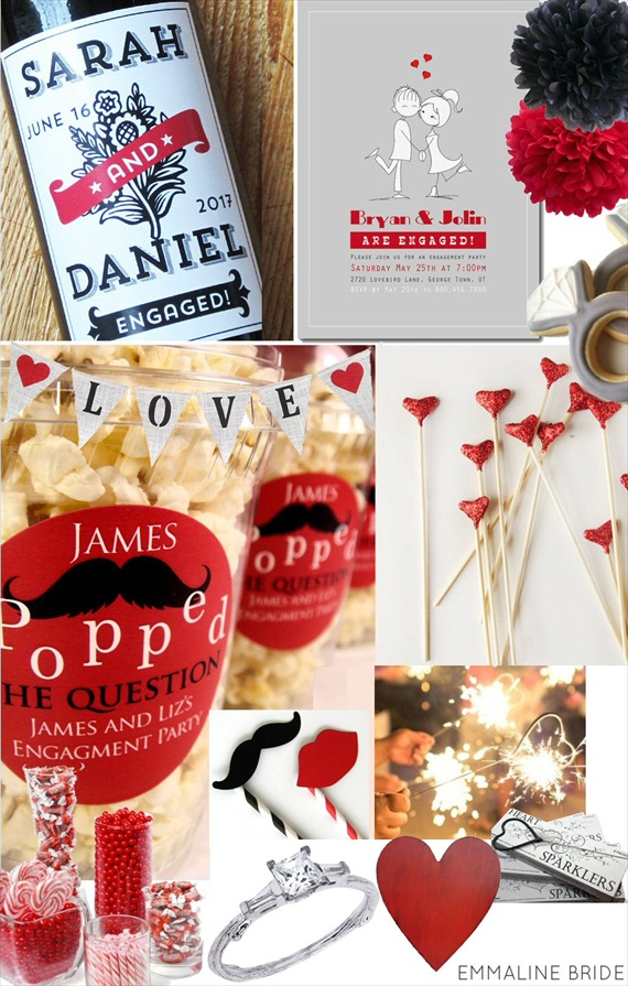 How to Plan an Engagement Party via EmmalineBride.com