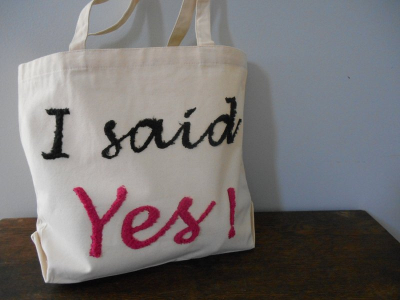 i said yes tote bag 2