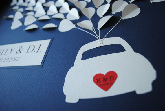 3D Balloon Guest Book Alternative (by Suzy Shoppe via Emmaline Bride) #handmade #wedding