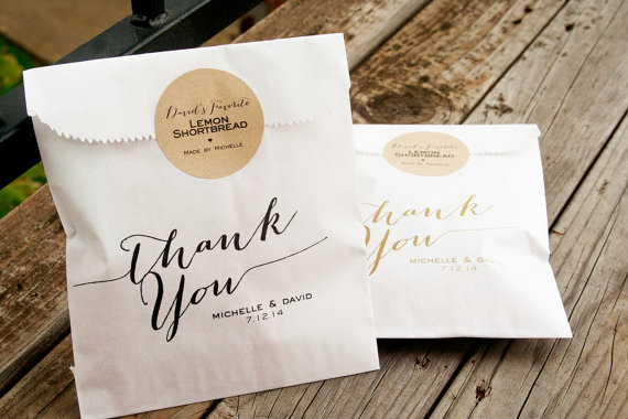 handmade wedding favor bag (mavora) via The Marketplace at EmmalineBride.com