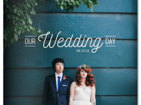 industrial chic wedding book