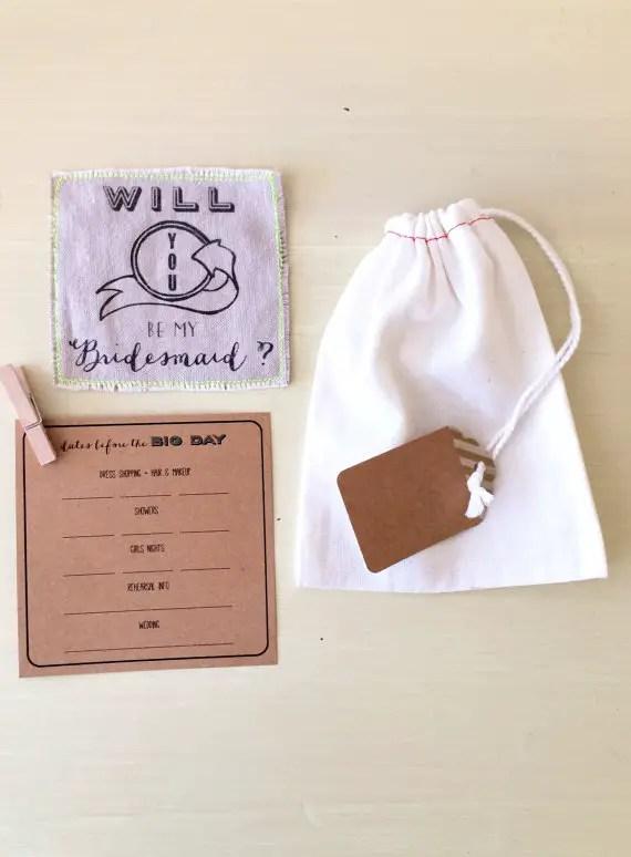 keepsake will you be my bridesmaid card kit
