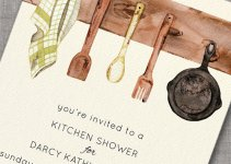 kitchen bridal shower invitation