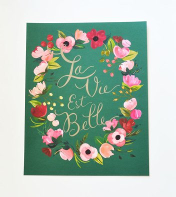 la vie est belle - life is beautiful | #wedding Wedding Poster Ideas for (Easy!) Decor