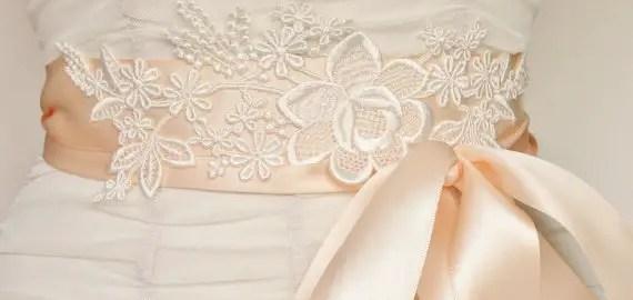 lace bridal sash