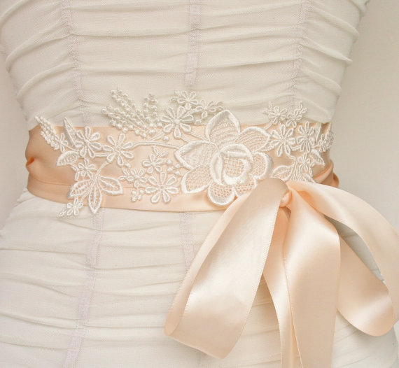 lace bridal sash