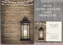 lantern winter wedding invitations