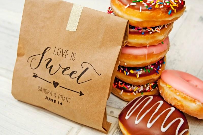 love is sweet custom favor bags