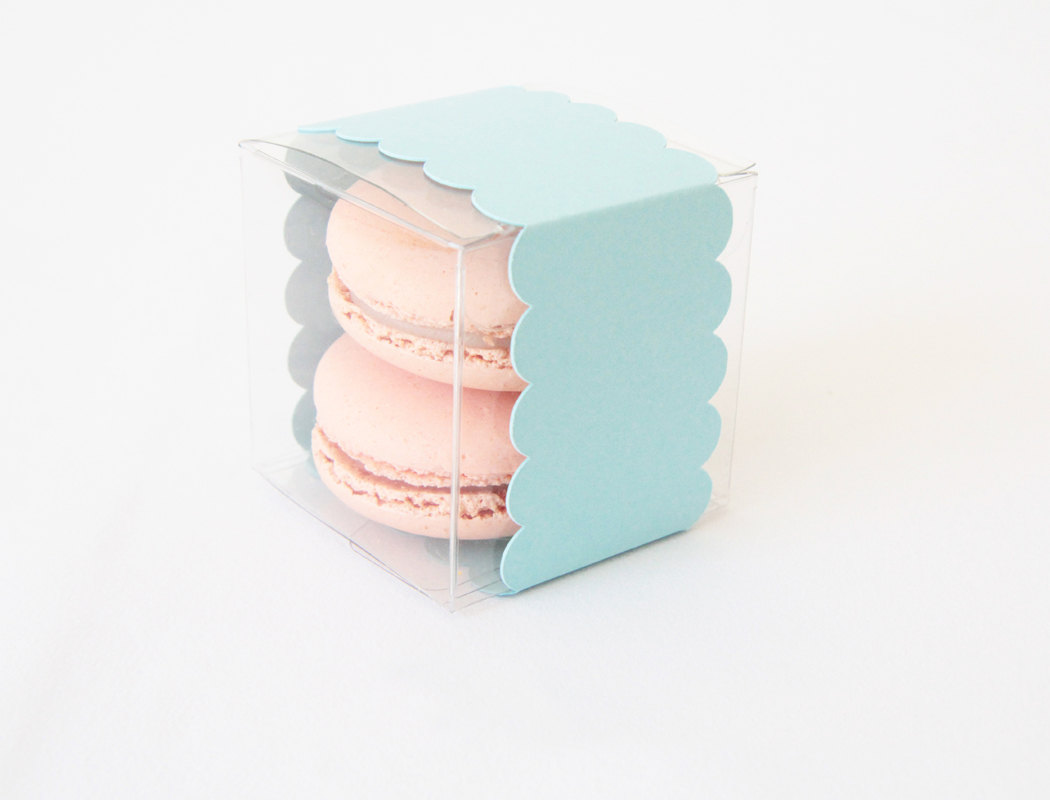 macaron in a box | via 7 Things to Know About Giving Macaron Favors http://emmalinebride.com/favors/giving-macaron-favors/