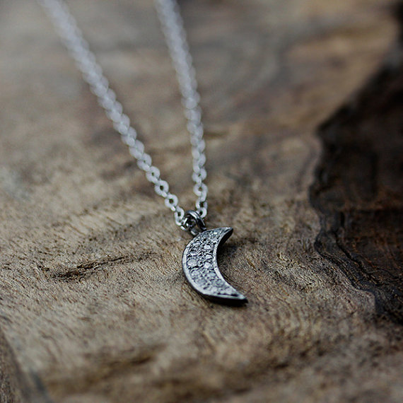 maid of honor gift - moon necklace