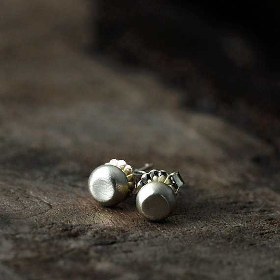 maid of honor gift - pebble earrings